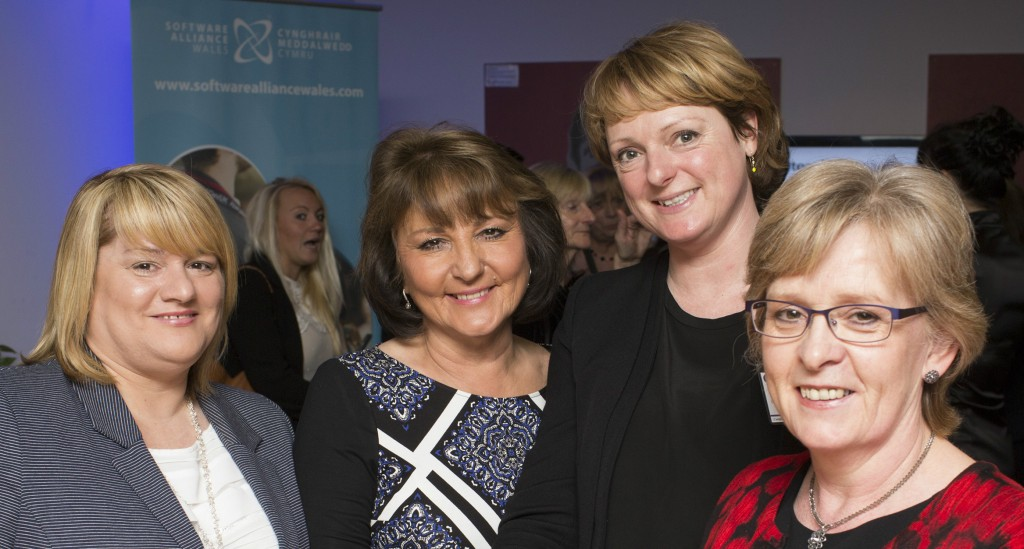 Julie Palmer and colleagues who also attended the event