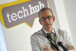 Ashley Crompton at the DVLA@TechHub launch event