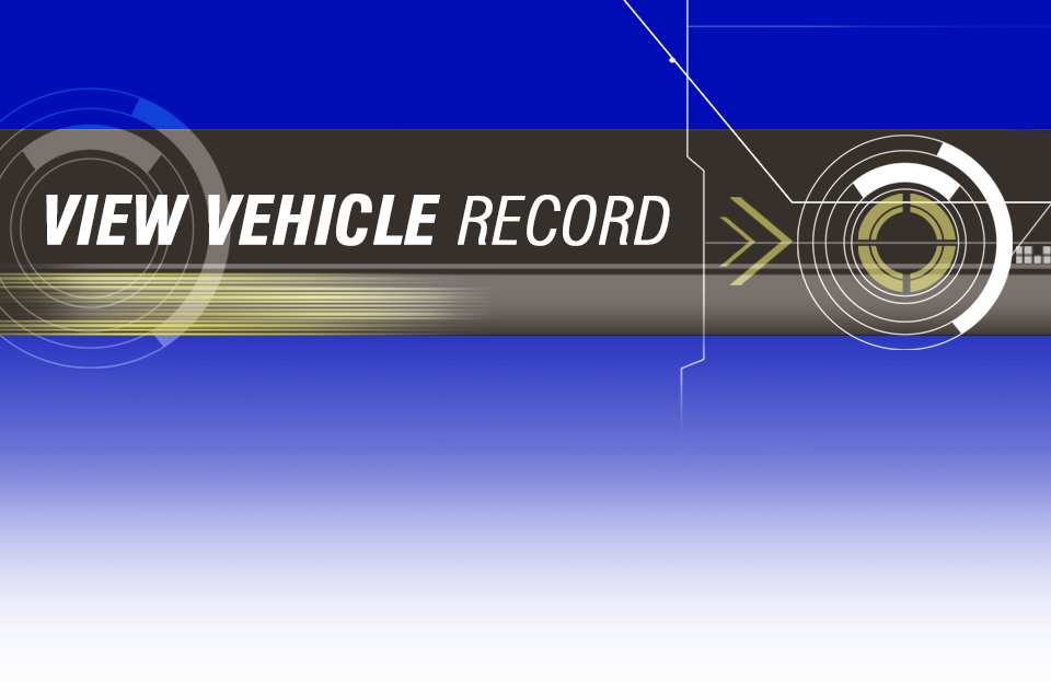 view vehicle record logo