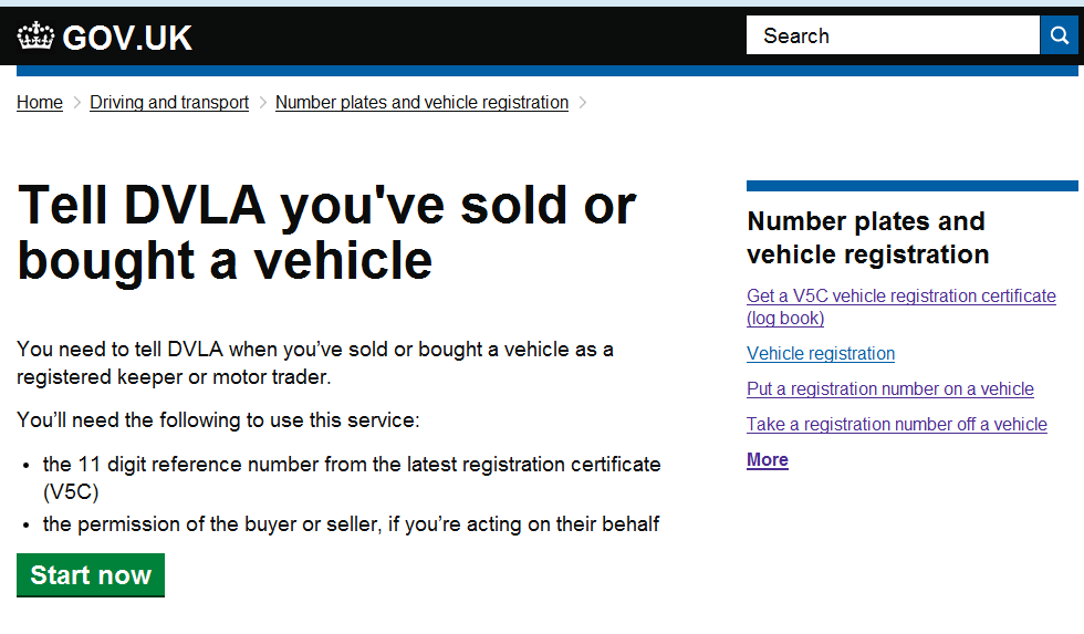 DIGITAL BLOG _ Tell DVLA you've sold or bought a vehicle