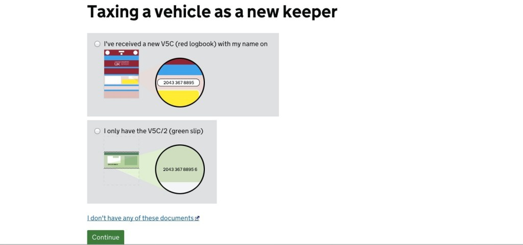 Dvla Tax Car New Owner
