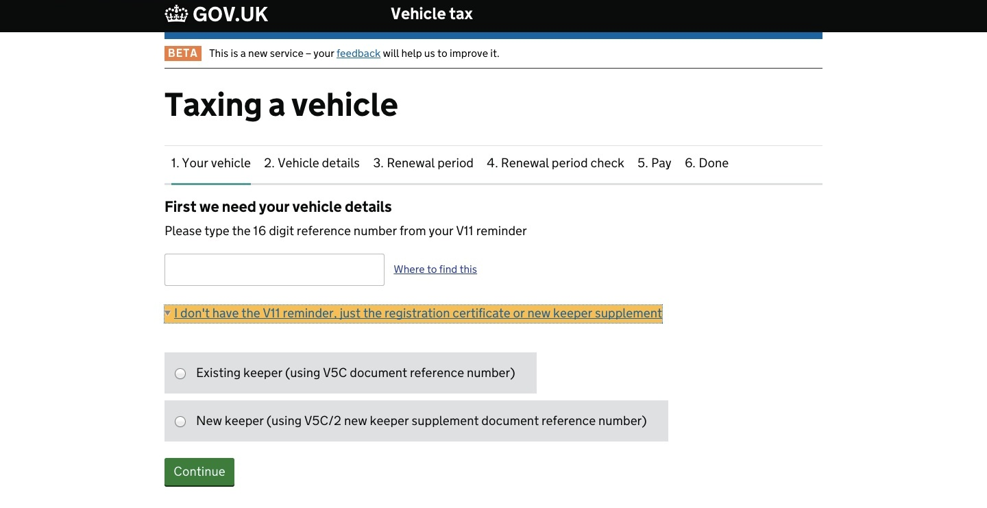 Improving Our Online Vehicle Tax Service Dvla Digital Services Blog