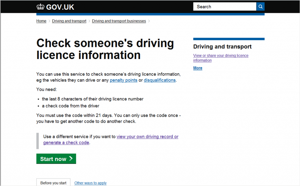 Digital Blog image - Check someone's driving licence information