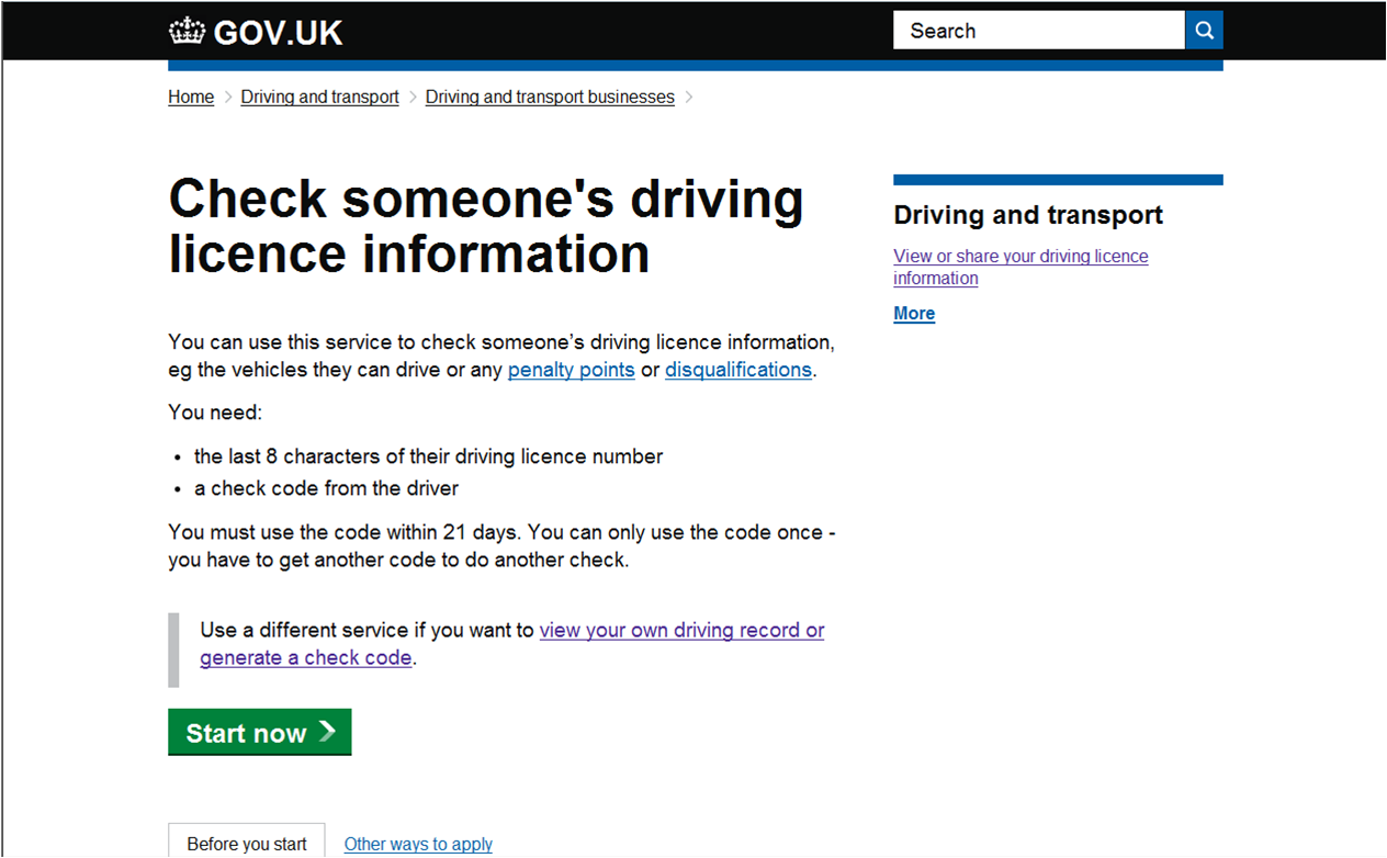 Check Driving Licence Service We Re Making Improvements