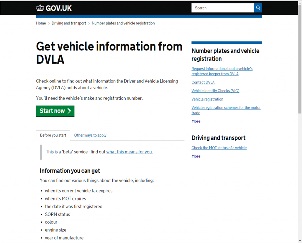 get vehicle information from