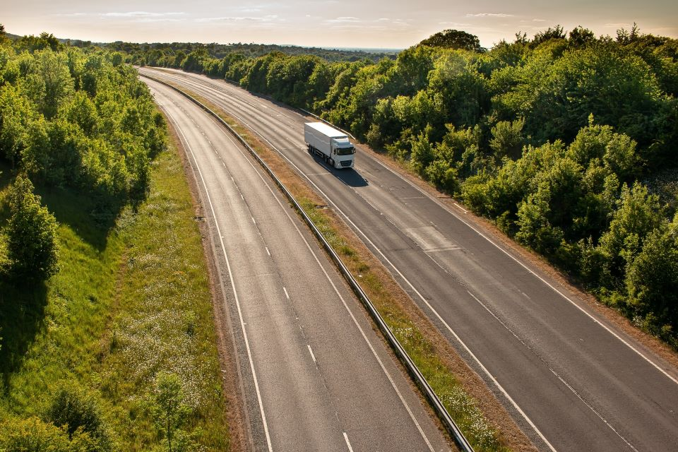 lorry on the motorway